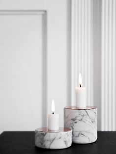 #marble candle holder CHUNK OF MARBLE S Chunk Collection by MENU | #design Andreas Engesvik @menuworld