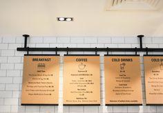 Trendy Design Restaurant Logo Food Menu Trendy Design Restaurant Logo Food MenuYou can find Menu board design and more on our Trendy Design Rest. Coffee Shop Menu, Coffee Shop Design, Coffee Shop Signage, Menue Design, Food Design, Design Ideas, Design Design, Deco Restaurant, Restaurant Design