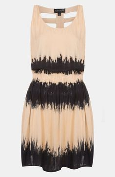 Topshop Cage Back Tie Dye Dress available at #Nordstrom