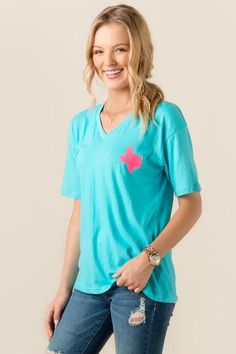 Texas State Outline Graphic Tee $24.00