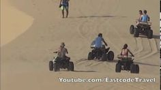 many Dune buggy or Beach buggy (ATV ) at White Sand dune in Mui Ne , Vietnam.Better be there early for a more quiet experience . Vietnam, Mui Ne, Beach Buggy, 3 Movie