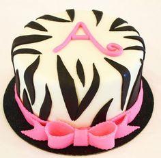 Monogram zebra birthday cake - Very cute! birthday-cakes-great-ideas
