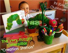 """The Very Hungry Caterpillar Creation Station, and how to use """"creation stations"""" to bring books to life!"""