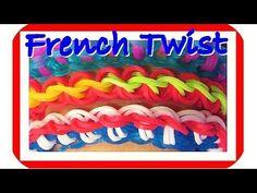 Rainbow Loom Bracelet: French Twist Bracelet (Fun Loom + Crazy Loom)