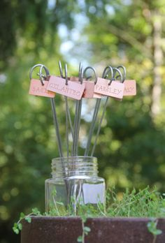Fox And Moss - Custom Personalized Engraved Garden Tags Markers Plant Id Labels Herb Markers