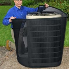Lower your utility bills by wrapping the PreVent Air Conditioner Filter around your central AC unit! The fine-mesh material is designed to keep out dust, bugs, pollen and other airborne debris that clog your AC's motor and hinder its efficiency to 21%.