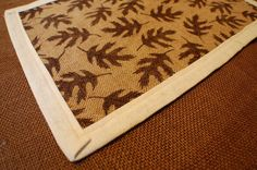 Thanksgiving Burlap Placemats with Fall Leaves by The Henson Collection