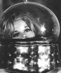 Barbarella in space classic 60s sci fi film 60s vintage fashion style icon jane fonda