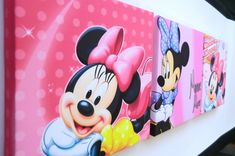 Make Minnie mouse && mickey mouse canvas for kids room
