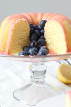 Lemon Pound Cake with Fresh Strawberry Icing - I could (and did) eat this frosting with a spoon! SOoooo gooood!