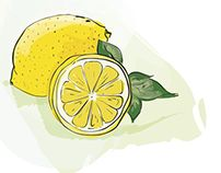 Lemons by Tamalia Plates, Tableware, Illustration, Kitchen, Licence Plates, Dishes, Dinnerware, Cooking, Griddles