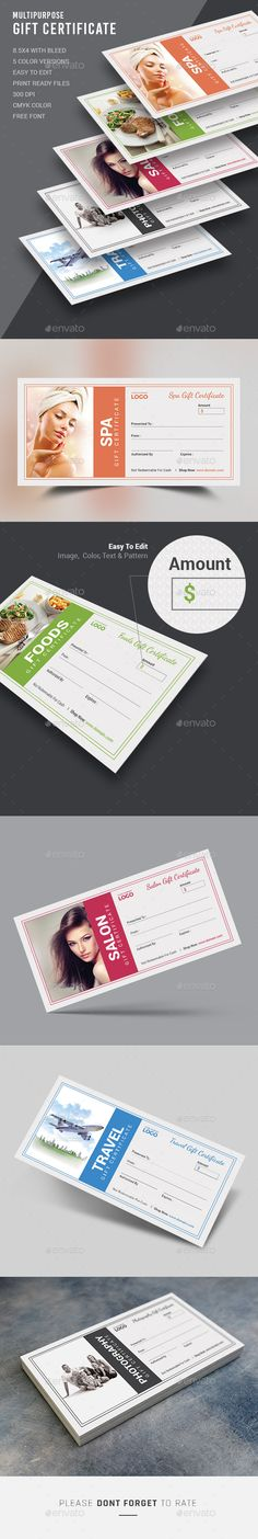 Gift Certificate  — PSD Template • Only available here ➝…