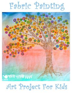 Use fabric paints and markers in this colourful and fun art project for kids. A great way for children to work with textiles that doesn't involve sewing!