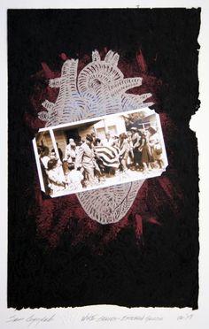 Sam Coronado,  Esteban Garcia,  Mixed Media, #LatinoArt #MexicanAmericanArt #serigraphy #printmaking