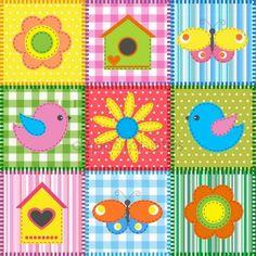 Kuş yuvası ile patchwork