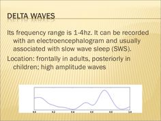 Its frequency range is 12-30hz. Beta activity is   increased when movement have to be resisted.   beta waves have three se...