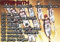 sports anime workout