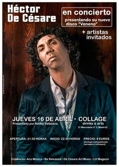 Este próximo jueves 16 de abril Héctor De Césare en concierto