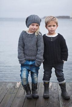 Boots and Sweaters and Kids! My heart just melted.