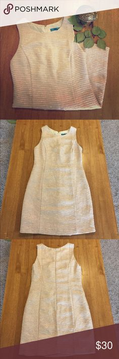 Gorgeous Metallic Dress This was bought at Nordstrom and was worn once. It's in excellent condition. It would be great for a holiday party, the office, or a night out. Pim + Larkin Dresses Midi