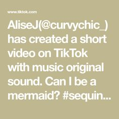 AliseJ(@curvychic_) has created a short video on TikTok with music original sound. Can I be a mermaid? #sequins #sequindress #plussizefashioninspo #curvyfashion #quoteoftheday #midsizequeens Hawaiian Mimosas, Good Mood Quotes, Kidney Friendly Foods, In Christ Alone, Good Cheer, Bad Mood, Happy Sunday, Viral Videos, Quote Of The Day