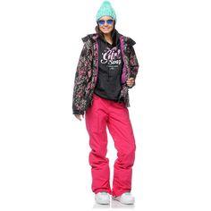Billabong Girls Jelly Snowboard Jacket, Burton Girls Society Snow Pant, Oakley Sunglasses, Thirtytwo Girls Snowboard Boots, Crooks & Castles Pretty Girl Hoodie (Snow Lookbook- Outfit #15)