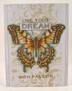 Suzz's Stamping Spot: Live your Dream with Passion using Tim Holtz, Ranger, Sizzix and Stamper's Anonymous products; Feb 2015