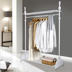 Heavy-Duty-4ft-Garment-Clothes-Rail-Hanging-Rack-Shoe-Storage-Shop-Display-Stand