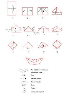 1000 id es sur le th me bateau en origami sur pinterest bateaux en papier origami et papier - Bateau en papier pliage ...