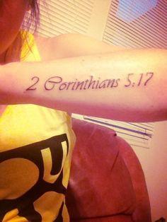 Scripture tat on forearm (: love it!