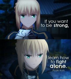 Strong by fighting alone