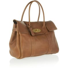 Mulberry The Bayswater textured-leather bag (774.910 CLP) ❤ liked on Polyvore featuring bags