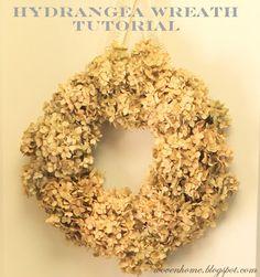 hydrangea wreath love it