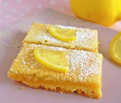 From My Lemony Kitchen ....: Lemon Bars