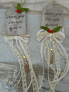 Picture of Γούρι 2018 κρεμαστό Christmas Mood, Christmas Signs, Christmas Wreaths, Christmas Decorations, Tea Party Decorations, Decoration Table, Xmas Crafts, Diy And Crafts, Xmas Ornaments