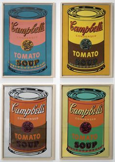 Campbells soup cans by Warhol