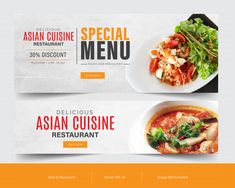 Food Banner Template Set For Advertising Facebook Cover Template, Food Banner, Banner Template, Restaurant Recipes, Advertising, Templates, Ethnic Recipes, Stencils, Vorlage