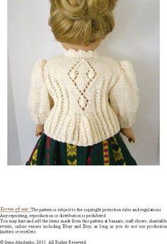 American Girl Doll 18 Gotz doll Knitting Pattern par LelleModa