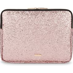 SKINNY DIP Dita glitter 13'' laptop case ($31) ❤ liked on Polyvore featuring accessories, tech accessories, laptop cases, pink laptop cases and laptop sleeve cases