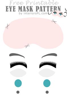 Free pattern for an eye mask. Pin now, read later!