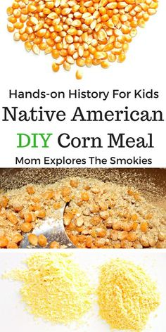 native american indians This fun DIY Native American Corn Meal activity for kids is a hands-on history lesson that incorporates the 5 senses. Native American Games, Native American Lessons, American History Lessons, Native American History, Native American Projects, American Indians, American Symbols, European History, History Lessons For Kids