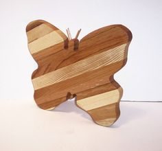 New Listing  Butterfly Cheese Cutting Board Handcrafted from Mixed by tomroche