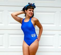 1990s Vintage Speedo Blue Lifeguard One Piece by Enchantedfuture