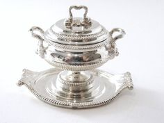 Acquisto Miniature Sterling Silver Soup Tureen and Tray after original by Paul Storr London 1817