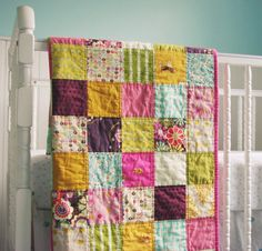 beautiful baby quilt from BlueElephantStitch on Etsy