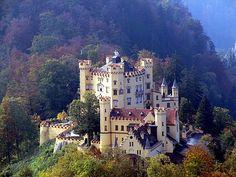 """""""Château de Hohenschwangau"""", Bavière, Allemagne."""