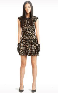 Jessie - A Fashion Boutique - Torn by Ronny Kobo - Malu Dress in Camel/Black, $372.00 (http://www.jessieboutique.com/products/torn-by-ronny-kobo-malu-dress-in-camel-black.html)