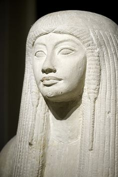 Merit (detail of a sculpture Maya and Merit), 18th dynasty, National Museum of Antiquities in Leiden, Netherlands.