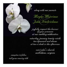 White Orchid Wedding Invitation http://www.zazzle.com/white_orchid_wedding_invitation_5_25x5_25-161210969886439219?rf=238620049403651234 #weddinginvitation