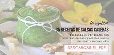10 Recetas de salsas caseras saludables - Tasty details